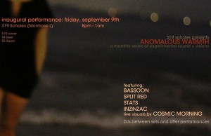Anomalous Warmth flyer